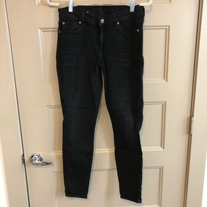 7 For All Mankind Black Skinny Jeans size 29